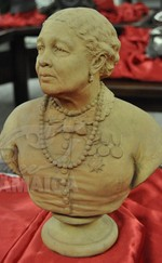 Terracotta bust of Seacole by Count Gleichen
